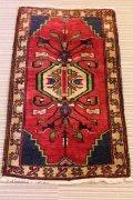 NO1196 手織り トルコ絨毯 ウール&カシミヤ