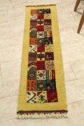 NO28933 手織り トルコ絨毯  細長いランナータイプ