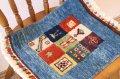 手織りトルコ絨毯 : 座布団サイズ
