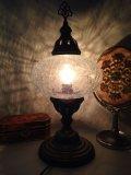 卓上 クラックガラス ランプ M