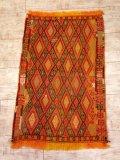 NO465 アンティークキリム ジジム織り 80年前