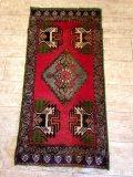 NO1271 トルコ 手織り絨毯 厚めのマットタイプ