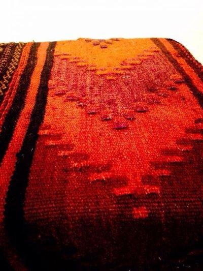 画像5: 手織り キリムの木製椅子 オットマン