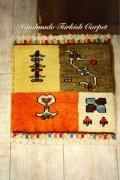手織りトルコ絨毯 : 座布団サイズ NO28406