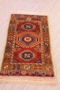 NO1220 手織り トルコ絨毯 アンティーク