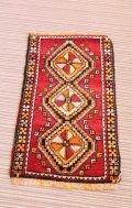 NO593 手織り トルコ絨毯 ウール&カシミヤ