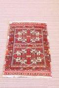NO1455 手織り トルコ絨毯 ウール&カシミヤ